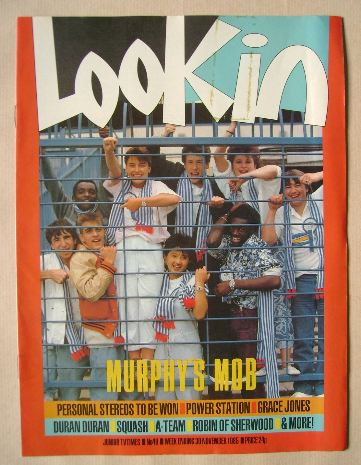 <!--1985-11-30-->Look In magazine - Murphy's Mob cover (30 November 1985)