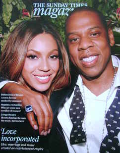 <!--2009-08-09-->The Sunday Times magazine - Beyonce and Jay-Z cover (9 Aug