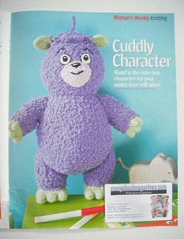 Humf Cuddly Character toy knitting pattern