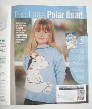 The Little Polar Bear children's sweater knitting pattern