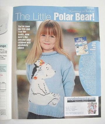 The Little Polar Bear sweater knitting pattern