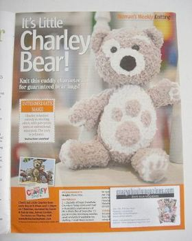 Little Charley Bear toy knitting pattern