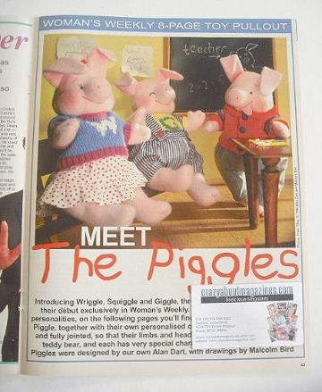 The Piggles toys to sew with clothes (designed by Alan Dart)