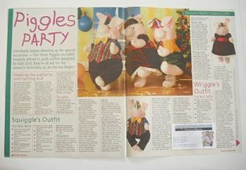 The Piggles party clothes to sew (designed by Alan Dart)