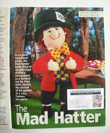 The Mad Hatter toy knitting pattern (designed by Alan Dart)