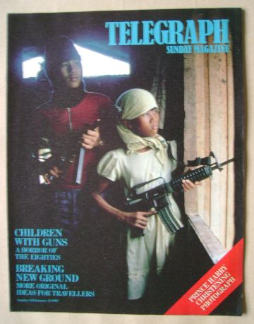 <!--1985-01-13-->The Sunday Telegraph magazine - Children With Guns cover (