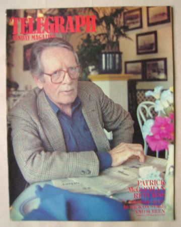 <!--1985-03-24-->The Sunday Telegraph magazine - Patrick McGoohan cover (24