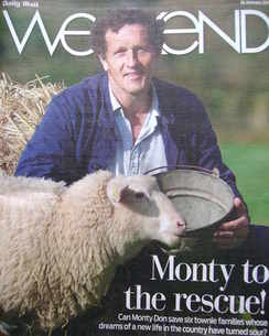 Weekend magazine - Monty Don cover (16 January 2010)