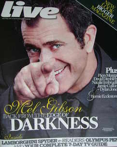 <!--2010-01-10-->Live magazine - Mel Gibson cover (10 January 2010)