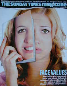 <!--2008-02-03-->The Sunday Times magazine - Face Values cover (3 February