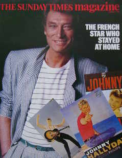<!--1985-08-11-->The Sunday Times magazine - Johnny Hallyday cover (11 Augu