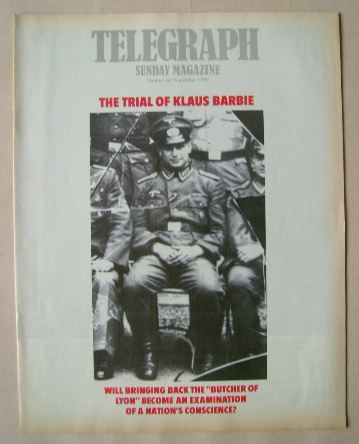 <!--1985-09-01-->The Sunday Telegraph magazine - Klaus Barbie cover (1 Sept