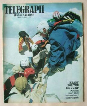 <!--1980-01-06-->The Sunday Telegraph magazine - Skydiving cover (6 January 1980)