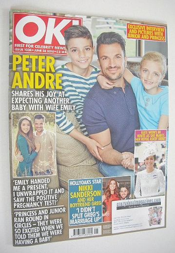 <!--2016-06-28-->OK! magazine - Peter Andre and children cover (28 June 201