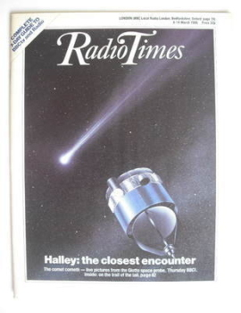 Radio Times magazine - Halley's Comet cover (8-14 March 1986)