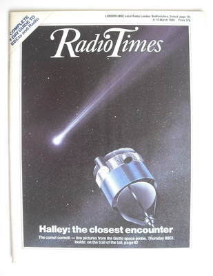 <!--1986-03-08-->Radio Times magazine - Halley's Comet cover (8-14 March 19