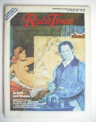 <!--1986-02-08-->Radio Times magazine - Artists and Models cover (8-14 Febr