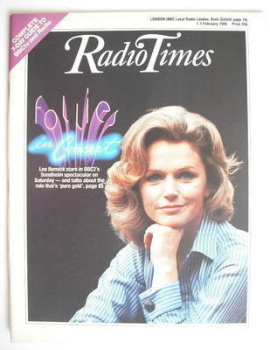 Radio Times magazine - Lee Remick cover (1-7 February 1986)