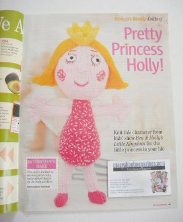 Princess Holly doll toy knitting pattern