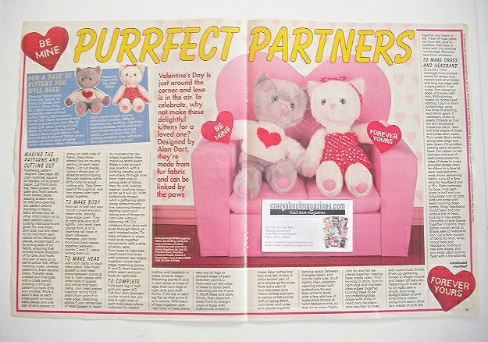 Purrfect Partners Kittens to sew (designed by Alart)