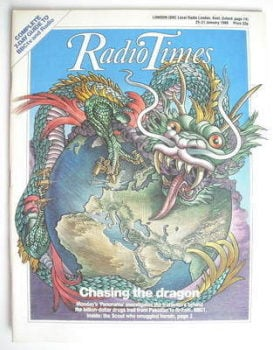 Radio Times magazine - Chasing the Dragon cover (25-31 January 1986)