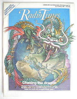 <!--1986-01-25-->Radio Times magazine - Chasing the Dragon cover (25-31 Jan