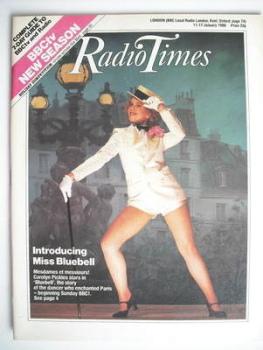 Radio Times magazine - Carolyn Pickles cover (11-17 January 1986)