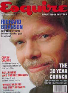 Esquire magazine - Richard Branson cover (May 1993)
