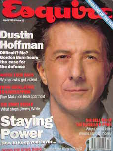 Esquire magazine - Dustin Hoffman cover (April 1993)