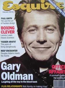 Esquire magazine - Gary Oldman cover (February 1993)