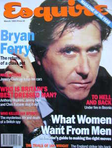 Esquire magazine - Bryan Ferry cover (March 1993)