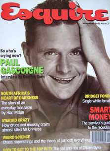 Esquire magazine - Paul Gascoigne cover (November 1992)