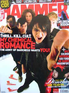 Metal Hammer magazine - My Chemical Romance cover (January 2006)