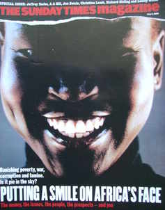 <!--2005-07-03-->The Sunday Times magazine - Alek Wek cover (3 July 2005)