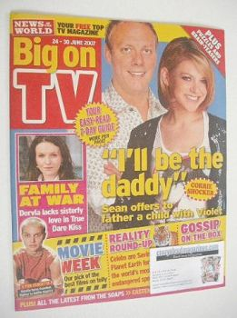 Big On TV magazine - 24-30 June 2007 - Antony Cotton and Jenny Platt cover