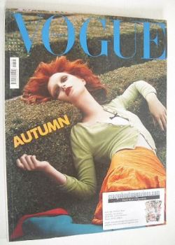 Vogue Italia magazine - August 2004 - Jessica Stam cover