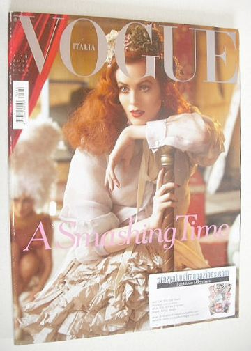 <!--2007-04-->Vogue Italia magazine - April 2007 - Karen Elson cover