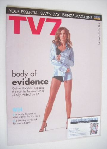 <!--2002-02-09-->TV7 magazine - 9-15 February 2002 - Calista Flockhart cove