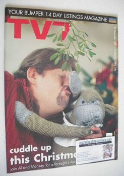 <!--2001-12-22-->TV7 magazine - 22 December 2001 - 4 January 2002 - Al and Monkey cover