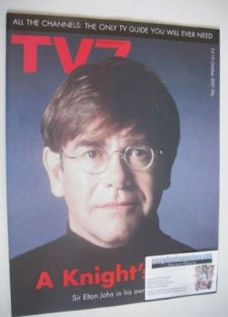 TV7 magazine - 13-19 October 2001 - Elton John cover