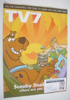 TV7 magazine - 4-10 August 2001 - Scooby Doo cover