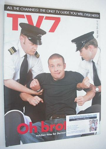 <!--2001-07-21-->TV7 magazine - 21-27 July 2001 - Dermot O'Leary cover