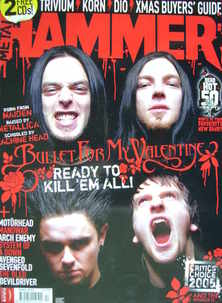 <!--2005-12-->Metal Hammer magazine - Bullet For My Valentine cover (Xmas 2