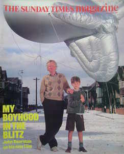<!--1987-08-30-->The Sunday Times magazine - My Boyhood In The Blitz cover