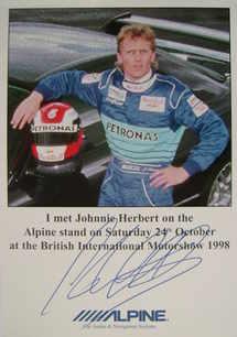 Johnnie Herbert autograph