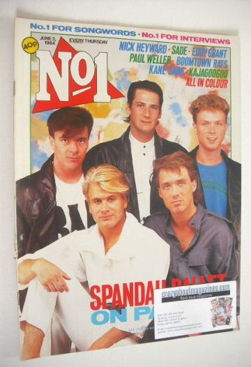 <!--1984-06-02-->No 1 Magazine - Spandau Ballet cover (2 June 1984)