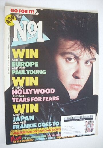 <!--1985-05-11-->No 1 Magazine - Paul Young cover (11 May 1985)
