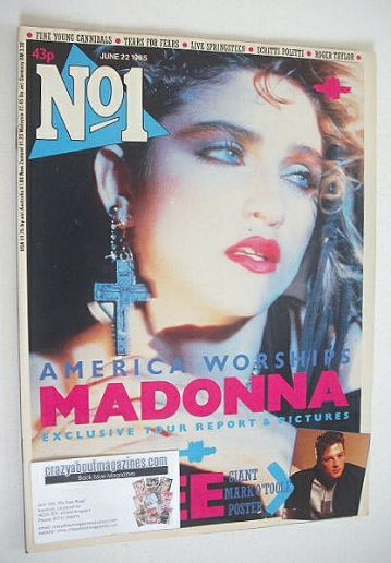 <!--1985-06-22-->No 1 magazine - Madonna cover (22 June 1985)