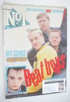 <!--1986-03-29-->No 1 Magazine - Bronski Beat cover (29 March 1986)