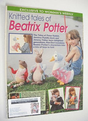 Beatrix Potter Peter Rabbit, Jemima Puddle-duck, Jeremy Fisher knitting pat